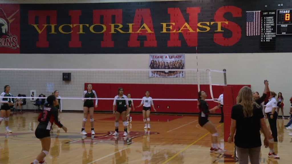 East Volleyball will play a district game early in the season