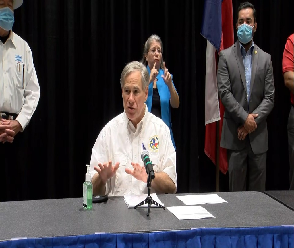 Governor Greg Abbott talks about the recovery process after Hurricane Hanna