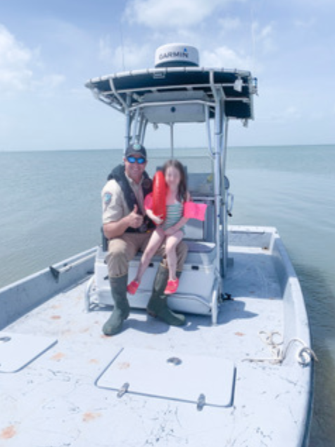 Texas Game Warden Rescues Young Girl on Raft in Lavaca Bay