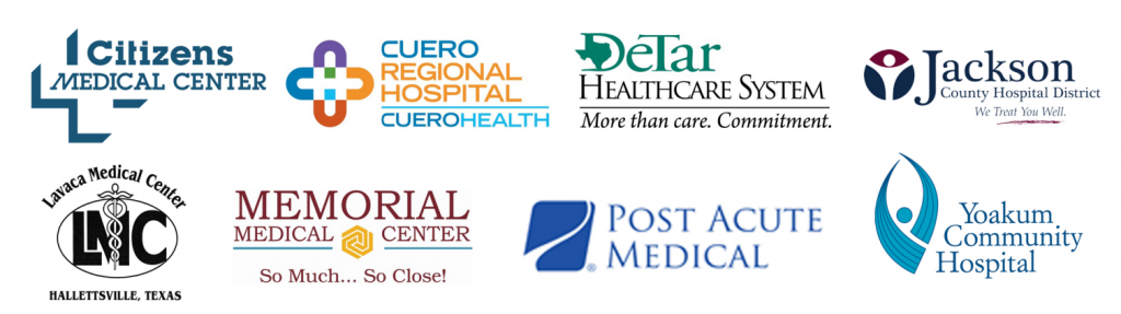 Logos of 8 local hospitals in the Crossroads