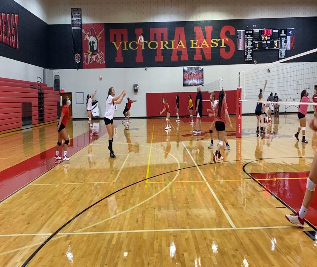 East volleyball returns to practice