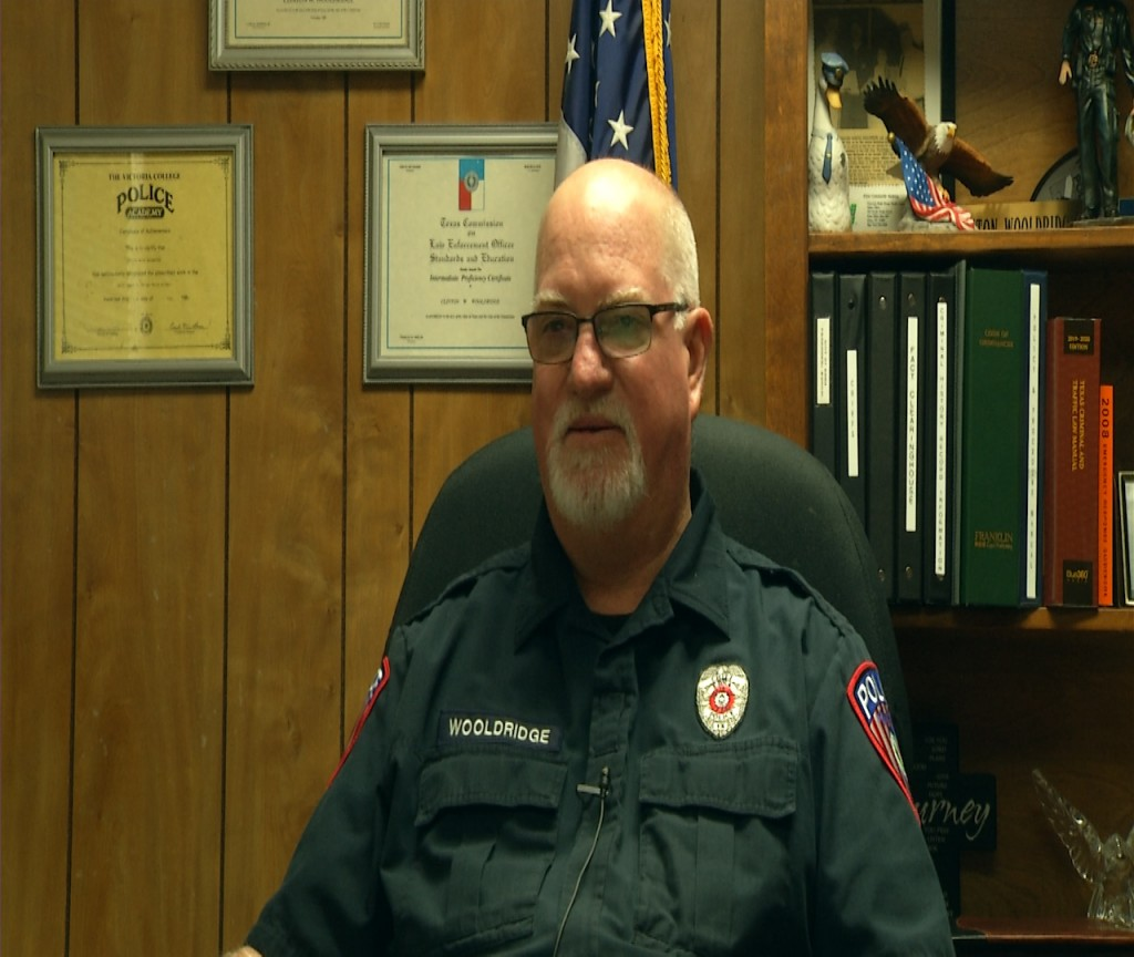 Edna Police Chief Clinton Wooldridge announced his retirement after serving for 36 years