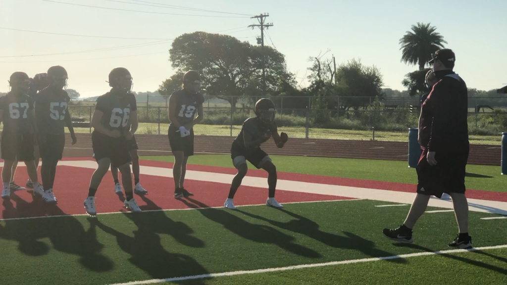 Industrial Football have their first day of practice
