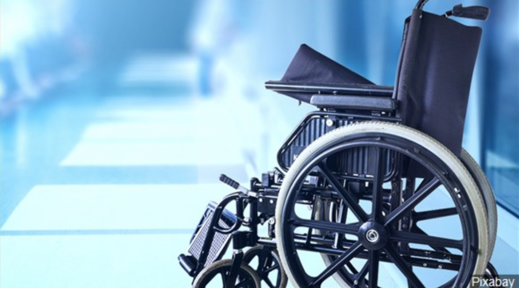 Wheelchair in nursing home