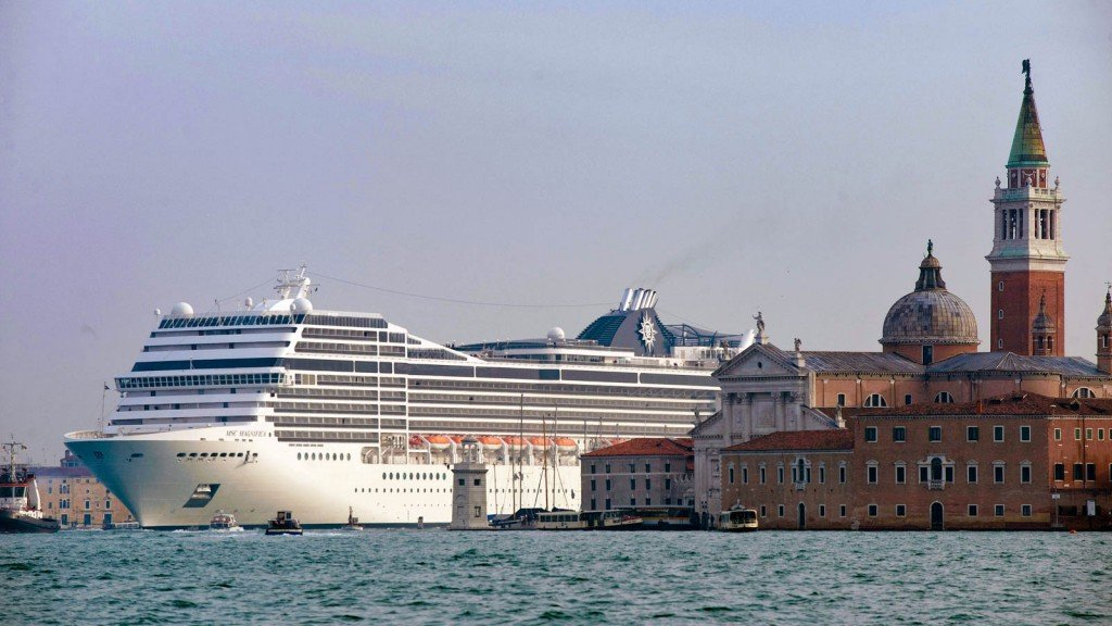 The Msc Magnifica Cruise Liner Ship Pass
