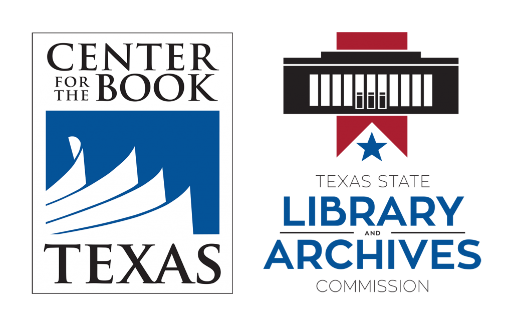 Texas Center for the Book and Library Archives logos