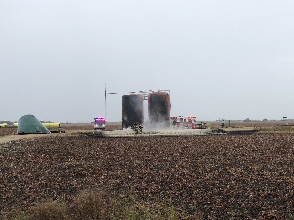 Tank battery catches fire and explodes in El Campo