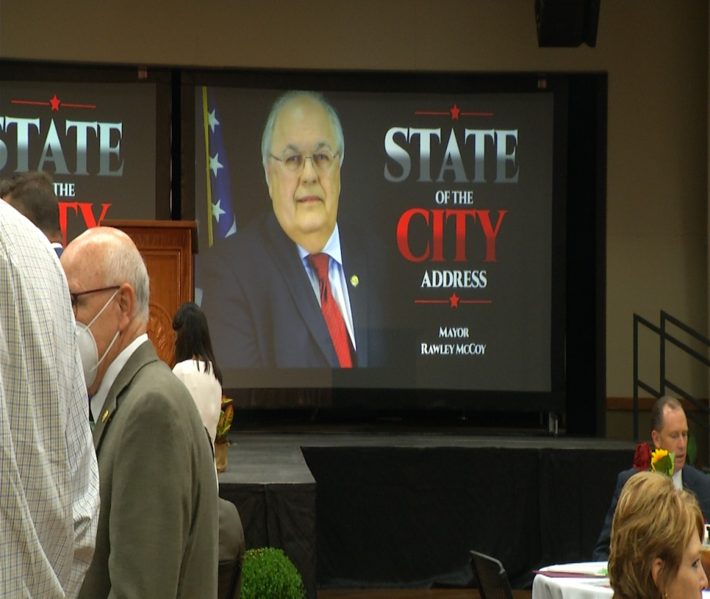 Mayor Rawley McCoy stated his plans during The State of the City Address