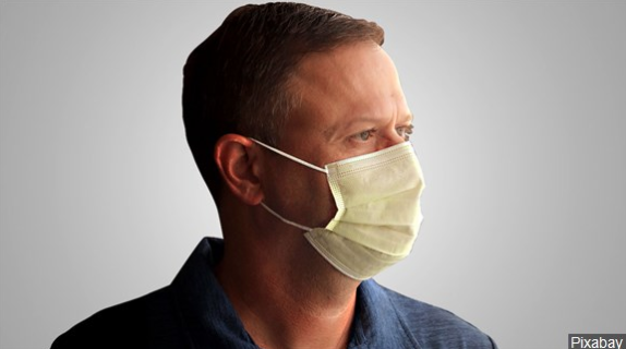 Man wearing medical face mask