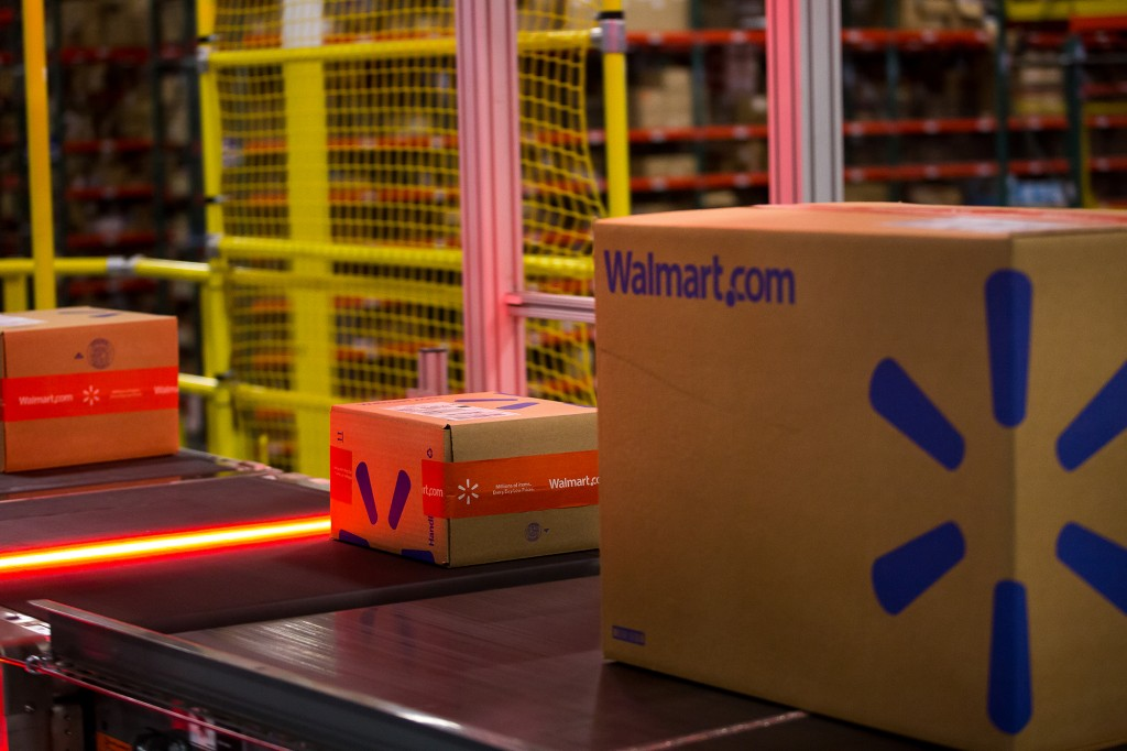 Operations Inside A Wal Mart Stores Inc. Distribution Center