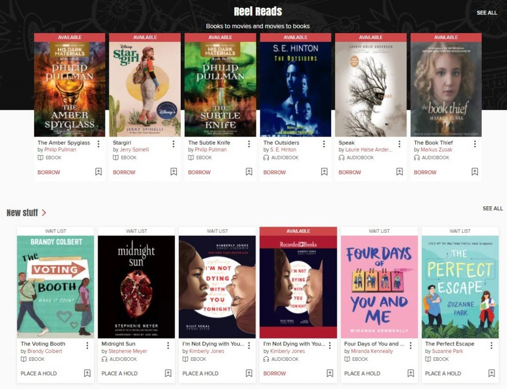 Young adult e-books and audiobooks are available through the Victoria Public Library's digital content provider, OverDrive.