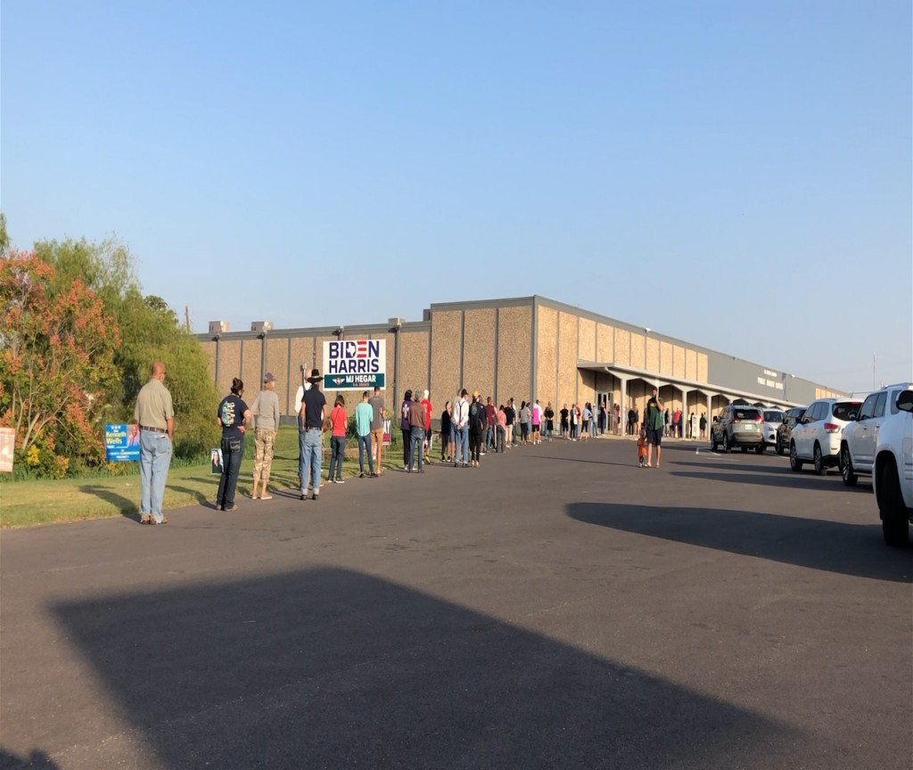 The first day of early voting in Victoria County had more than 500 votes before noon