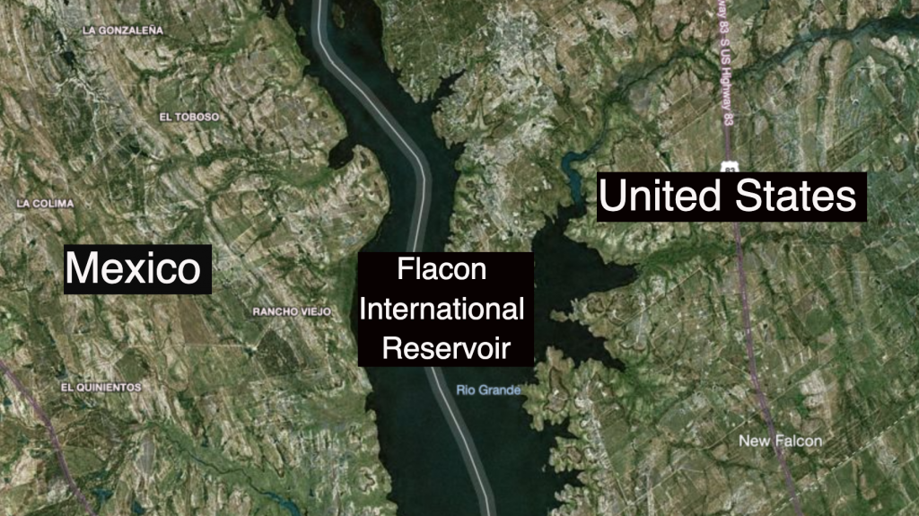 Flacon International Reservoir between the United States and Mexico