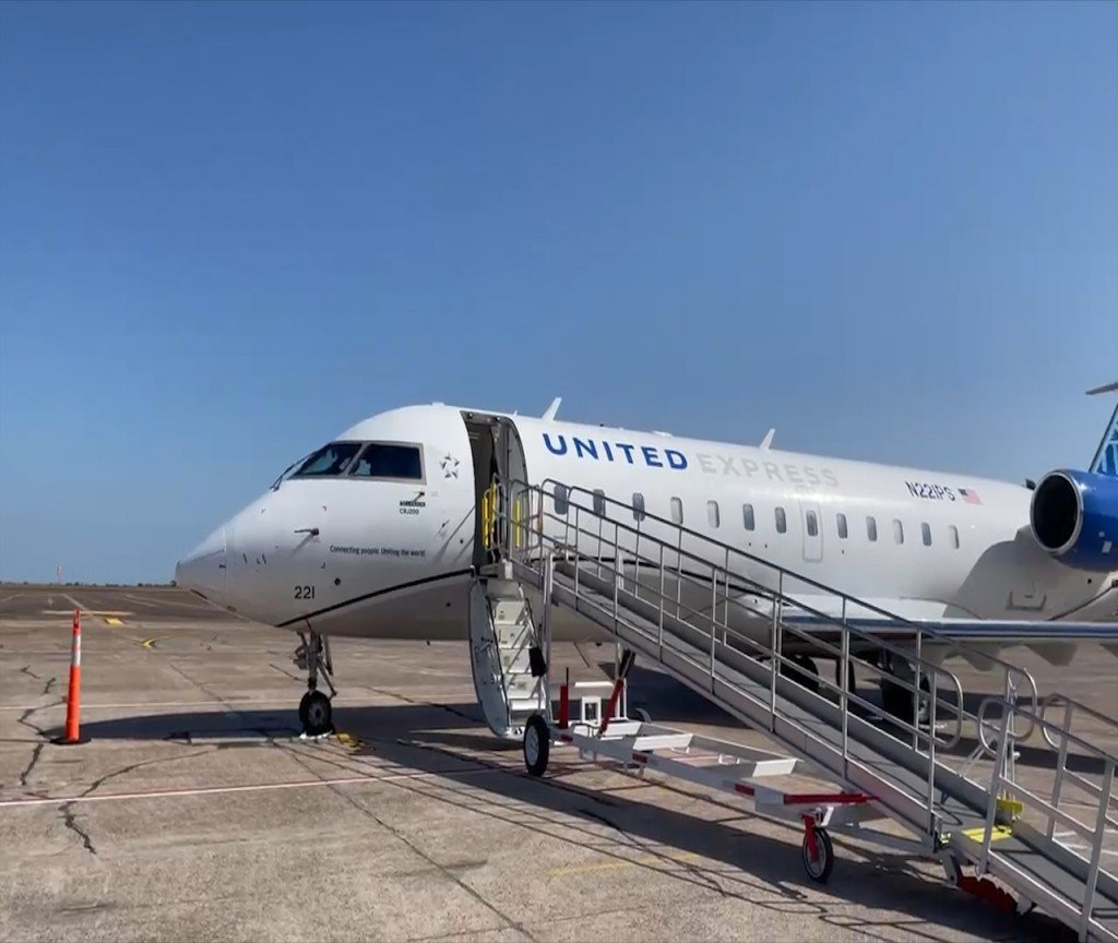 United Express is the new flights available at the Victoria Regional Airport