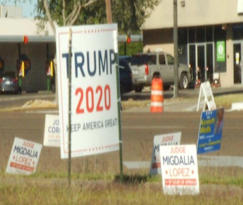 The Victoria County Commissioners are issuing a new order will prevent large campaign signs