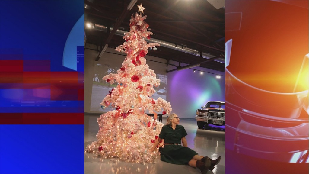 Local Art Car Museum Christmas Tree Offers Festive Photo Opportunity