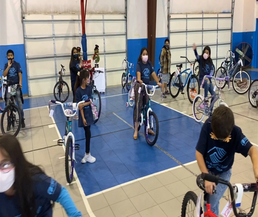 Riverside Church surprised children with new bikes for the Holiday