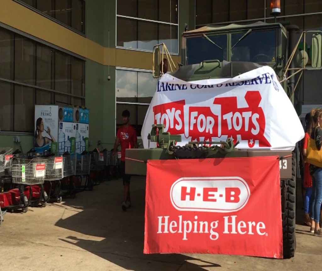An organization is teaming up with Toys for Tots to add 30k in meals for Victoria