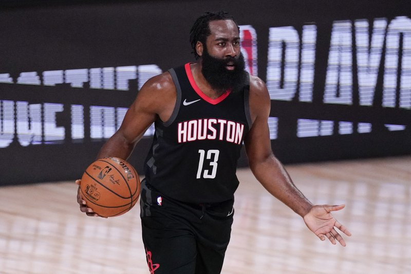 James Harden practiced with the Houston Rockets on Monday for the first time this season