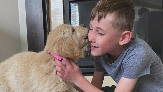 Minnesota Boy With Prosthetic Leg Gets Puppy Born Without Paw