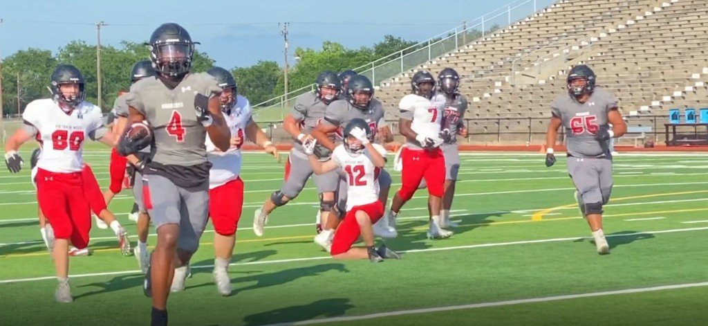 West Teams Gray And White Faced Off In Scrimmage