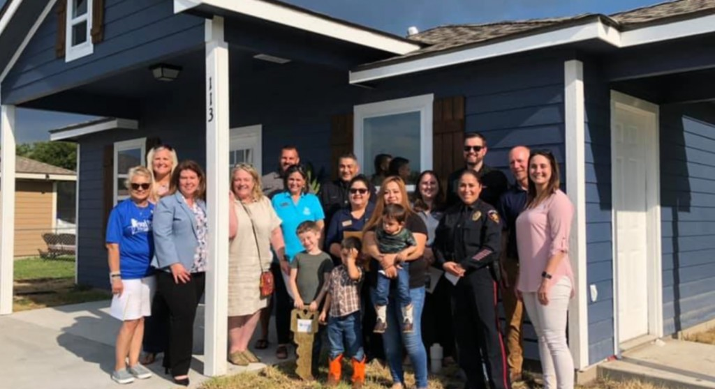 Habitat for humanity builds home, hosting an opening ceremony with VPD