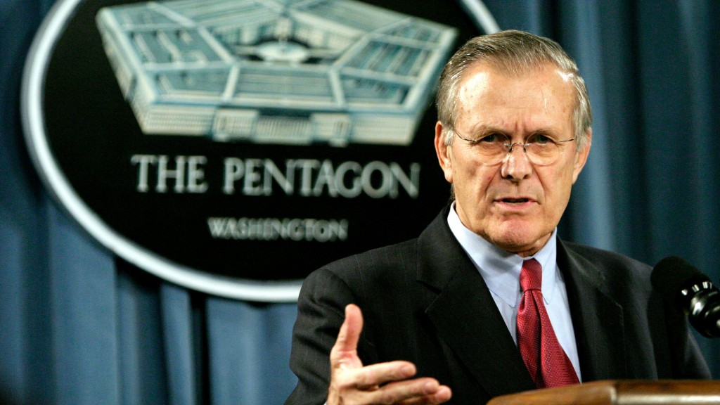 Defense Secretary Donald Rumsfeld Holds A Joint Press Availability With Russia's Minister Of Defense