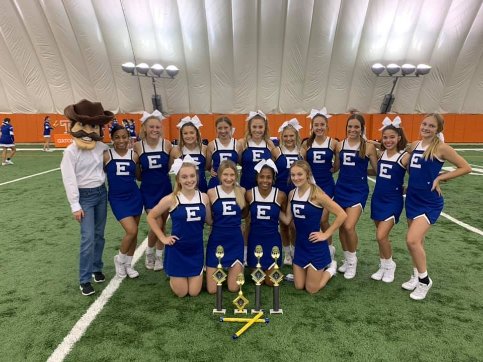 Edna Cowgirls bring home hardware from cheer camp