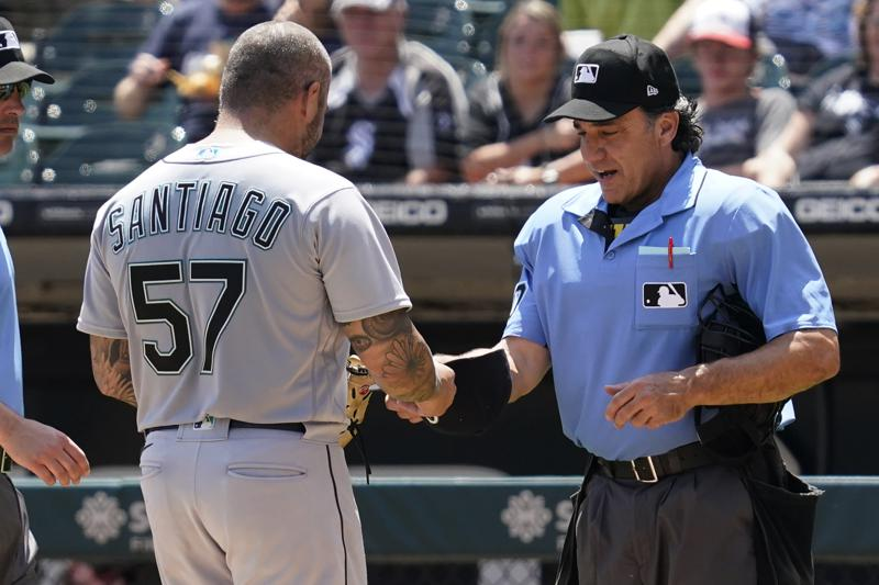 Mariners Santiago Suspended 10 Games For Foreign Substance