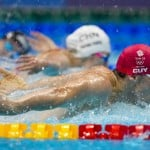In Olympic First, Men, Women Swim Together In Wild Medley