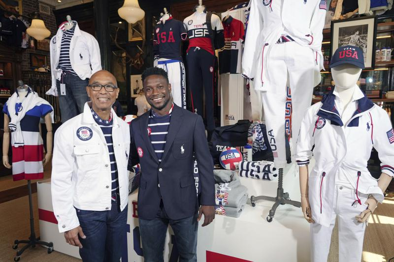 Navy Blazers Stripes And Flag Scarves For Team Usa In Tokyo