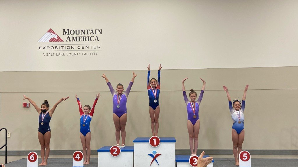 Full Force gymnasts winning medals at the nationals