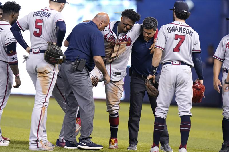 Braves Star Acuna Out For Season After Tearing Knee In Game