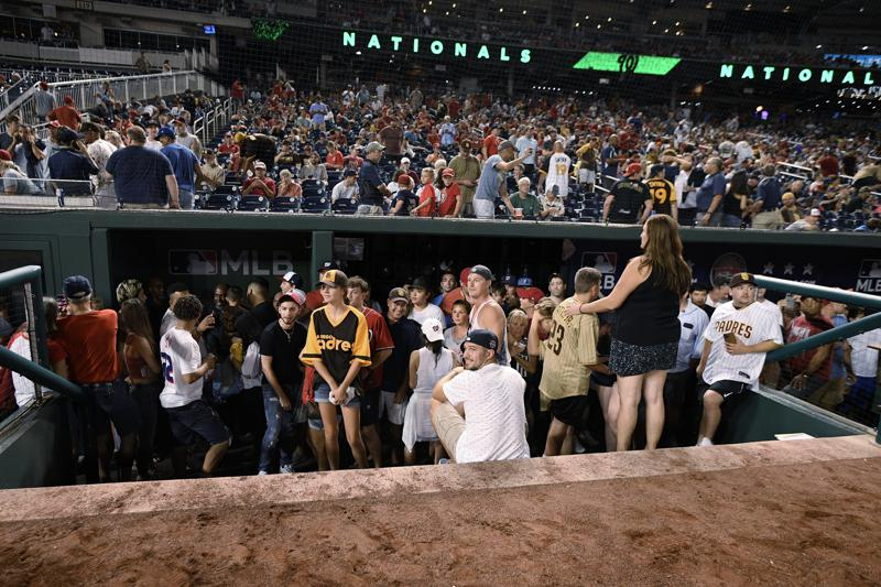 Padres Nats Game Suspended After Shooting Outside Dc Stadium