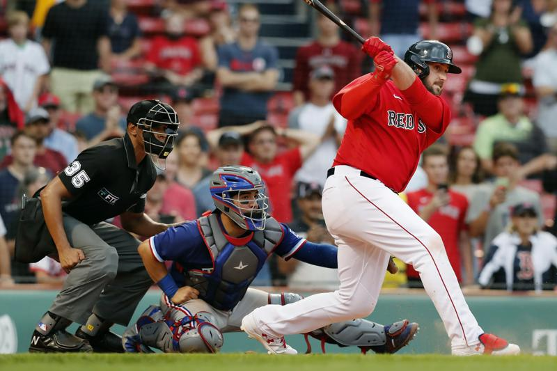Shaw Hits Grand Slam As Red Sox Beat Rangers 8 4 In 11