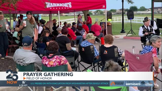 Area Veterans Gather In Prayer In Response To The Ongoing Crisis In Afghanistan