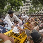 Indian Opposition Party Holds Street Protest Demanding Jobs