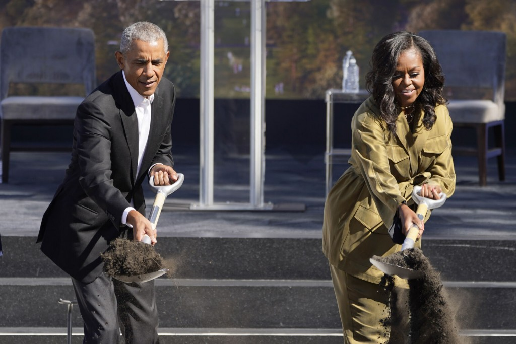 After 5 Years, Obamas Break Ground On Presidential Library In Chicago