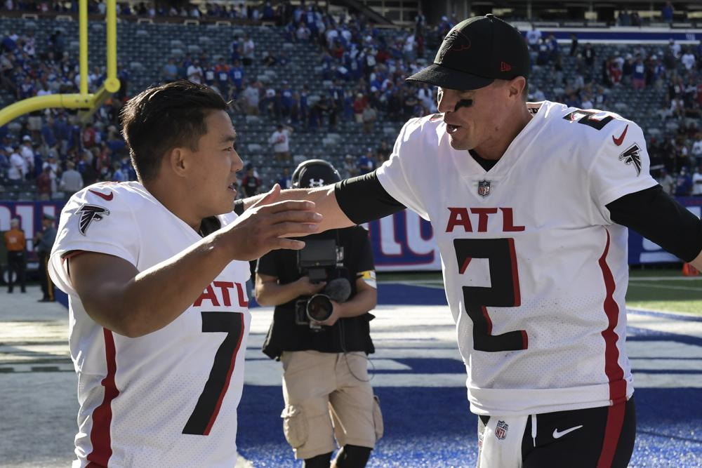 Falcons Give Smith First Win Beat Giants On Elis Da