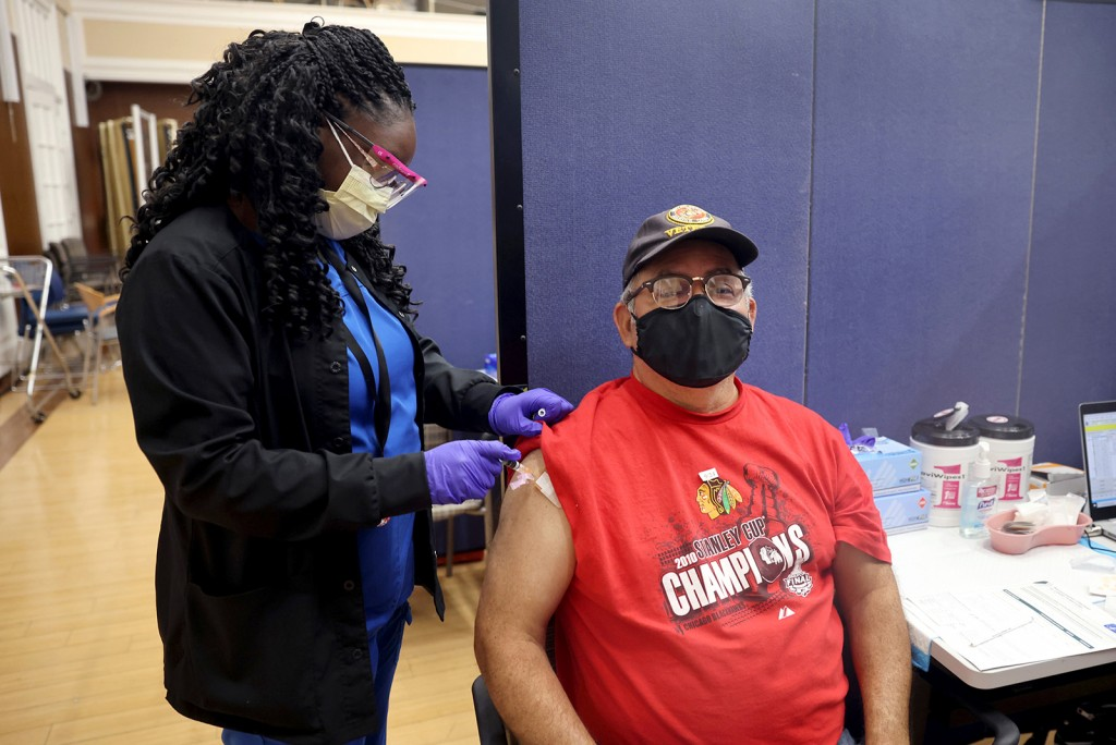 Veterans Affairs Hospital Outside Of Chicago Continues Vaccinations Efforts