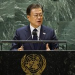 At Un, Moon Pushes Peace With Nkorea After Missile Tests