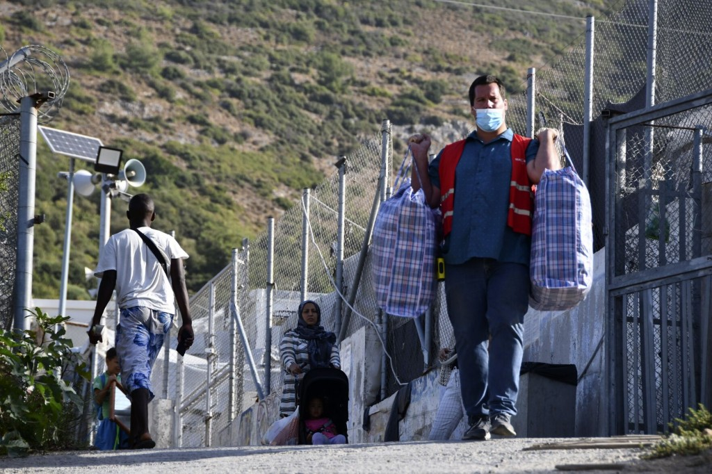 Greek Authorities Begin Moving Migrants Into New Camp