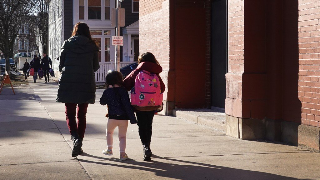Chicago Area Elementary School Children Head Back To In Person Learning