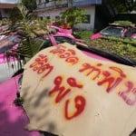 Idled Thai Taxis Go Green With Mini Gardens On Car Roofs