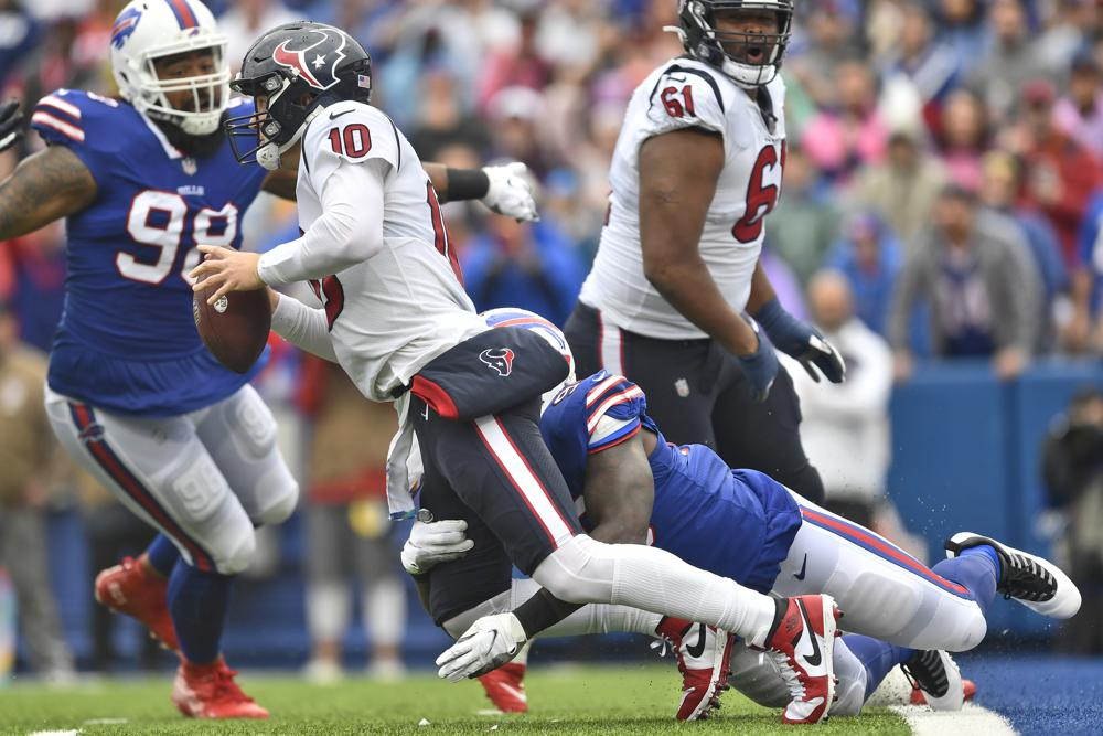 Bills Force 5 Turnovers Overwhelm Mills And Texans 40 0