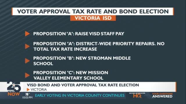 Victoria Isd Voter Approval Tax Rate Election And Bond Election On The Ballot
