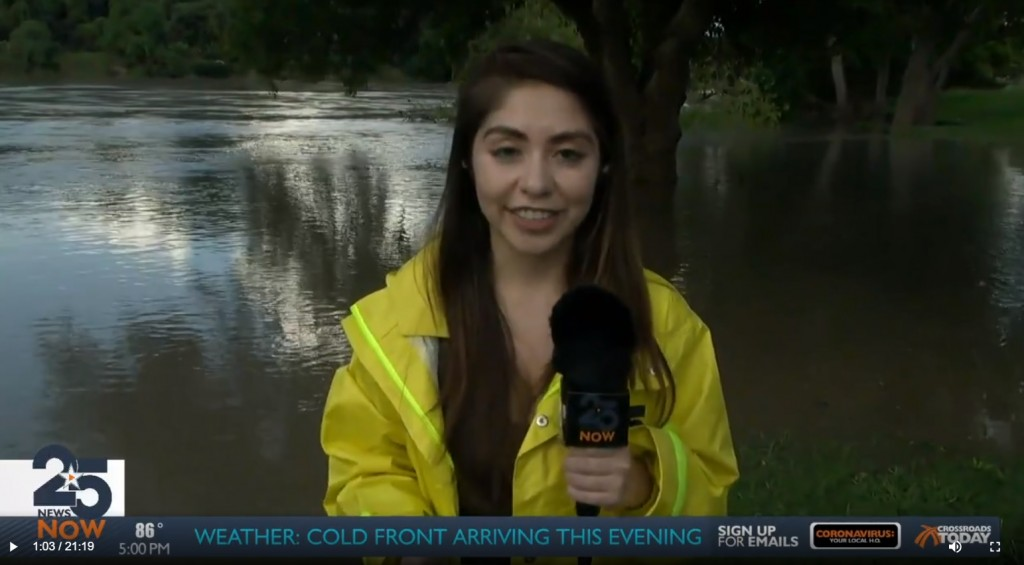Guadalupe River Flooding Extends Near Riverside Park Golf Course