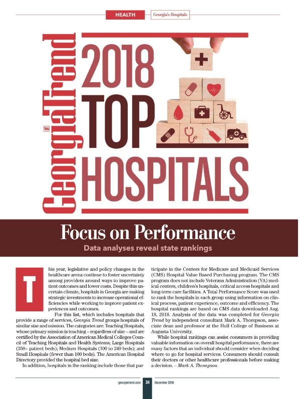 hospital rankings 2018