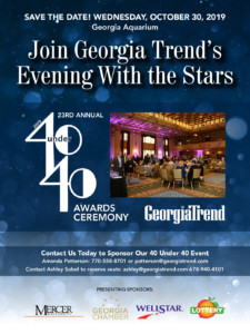 Georgia Trend's 2019 40 Under 40 Celebration @ Ocean's Ballroom of the Georgia Aquarium