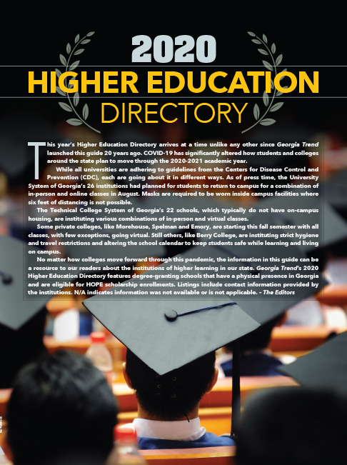 Higher Education Directory 2020 Cover
